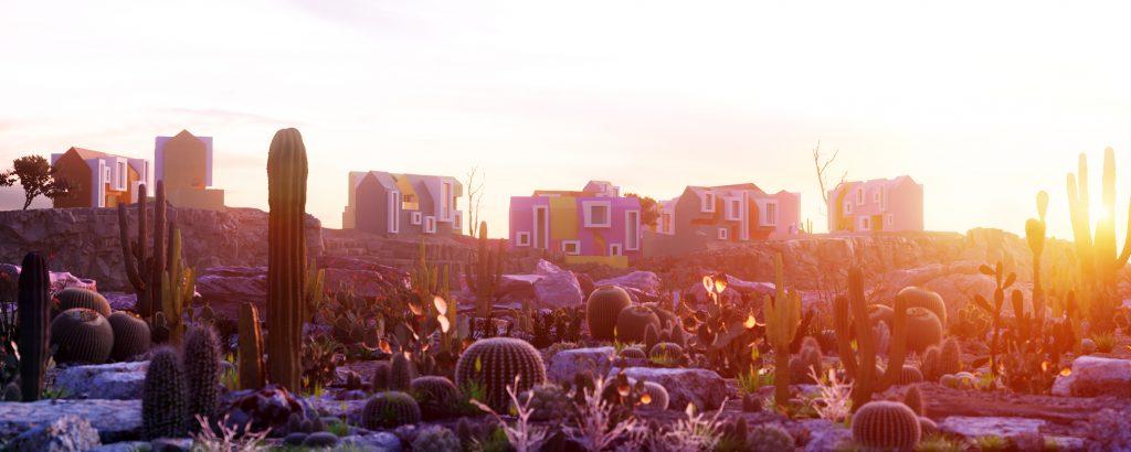 Landarch CamAll_view1_Sunset-1024x410 Sonora Art Village